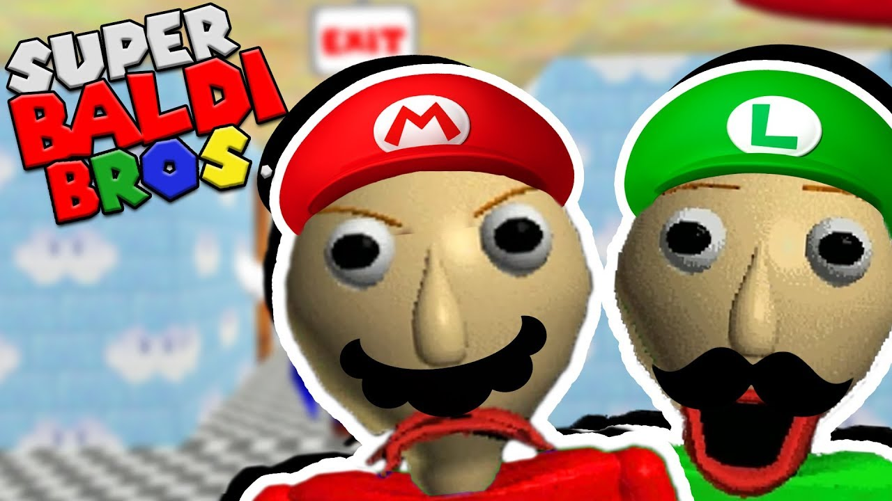 Super Baldi Bros The Weirdest Baldi Mod Yet Baldis Basics Mario Mod