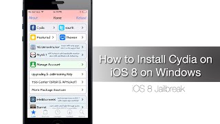 How to Install Cydia on iOS 8.1 - iOS 8 on Windows
