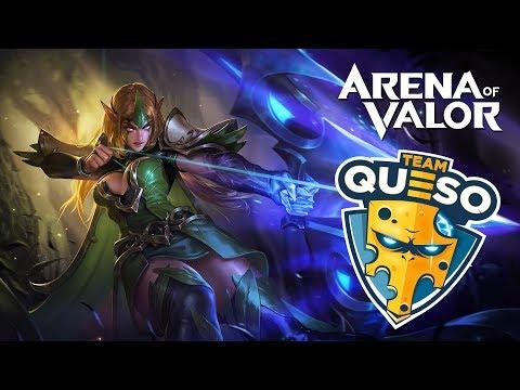 ¡¡JUGANDO DE RISAS CON TEAM QUESO EN NORMAL!! | Navalha - Arena of Valor