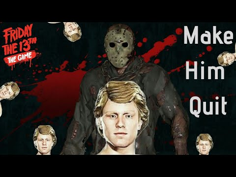 Making Jason Rage Quit (Chad Kensington) Gameplay - Friday The 13th: The Game