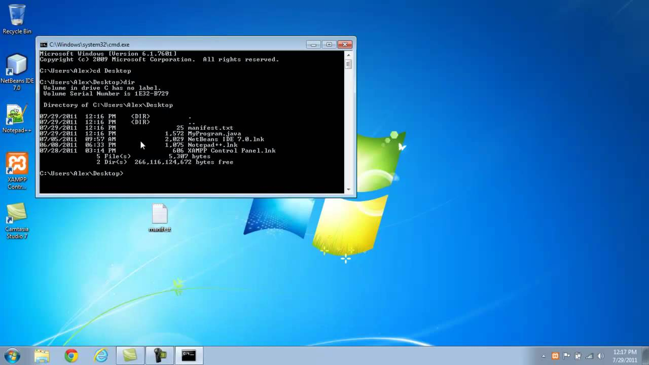 Tutorial on how to make a Java JAR file with the command prompt