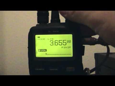 Test Icom IC-R20 3600 Mhz LSB-1/1