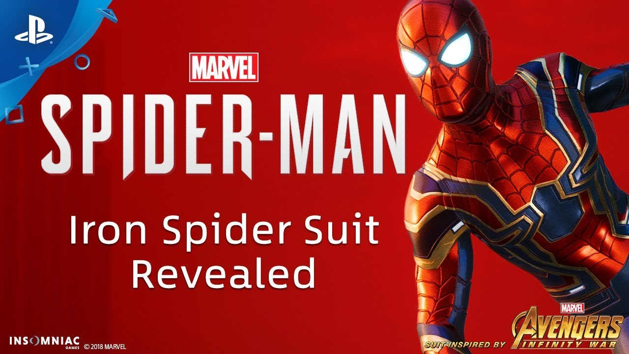 marvel's spider-man - iron spider suit revealed | ps4 - youtube