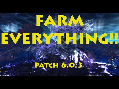 WOW 6.0.3 Farming Mote Of Harmony, Windwool Cloth, Grisly Trophy And Trillium Ore