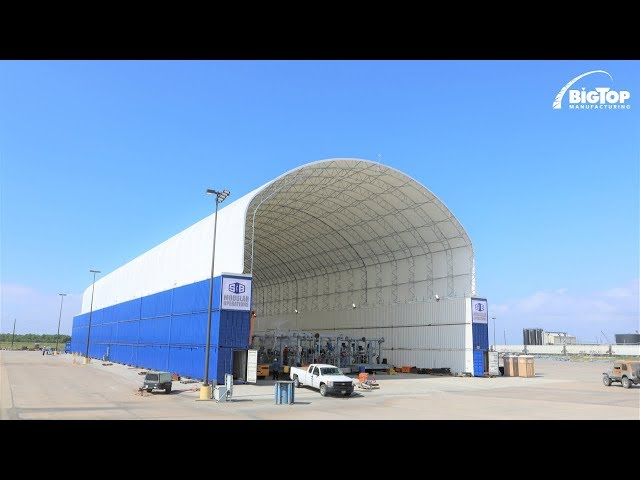 Container Mounted Fabric Structures - Big Top Manufacturing