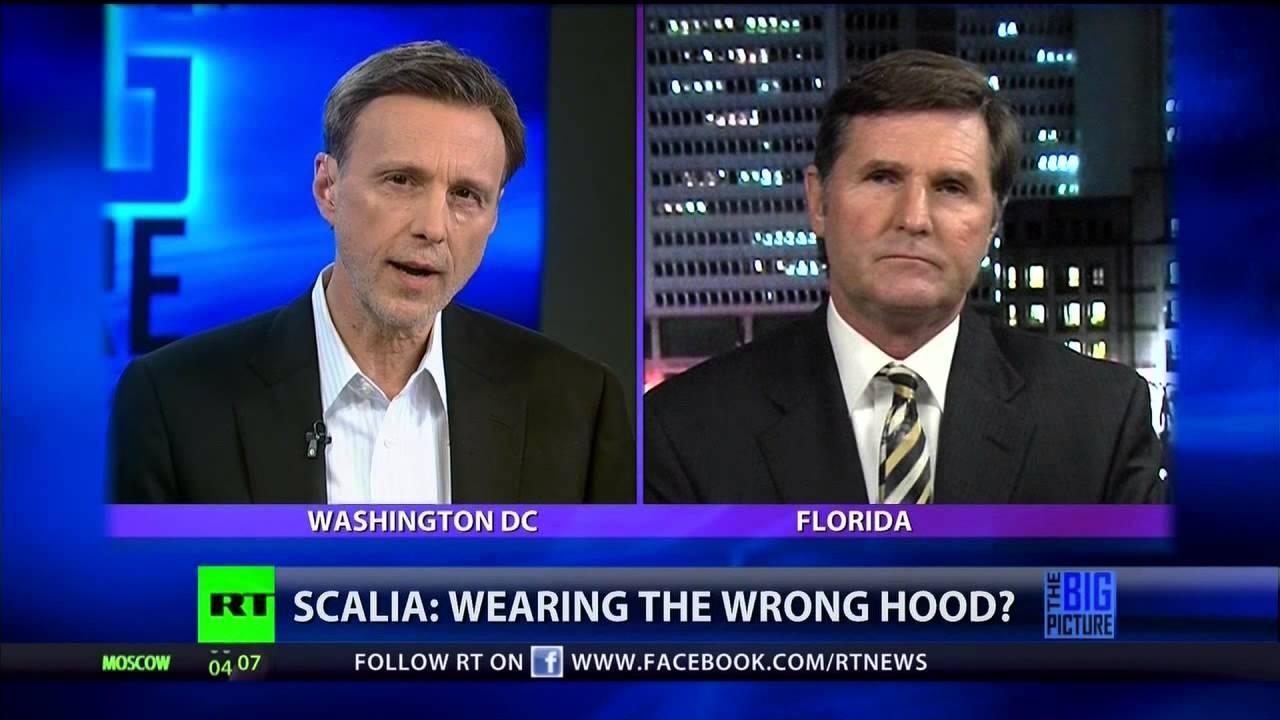 Should Scalia take off his black robe & put on his white hood?