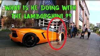 See what this man is doing with the Lamborghini | SupercarsinBangalore | #74