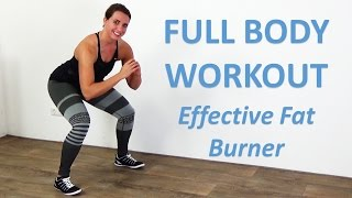 This full body workout for women consists of effective calorie burning exercises. all exercises can be easily done at home and require no equipment. wor...
