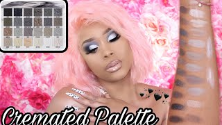 JEFFREE STAR COSMETICS CREMATED PALETTE REVIEW SWATCHES AND TUTORIAL