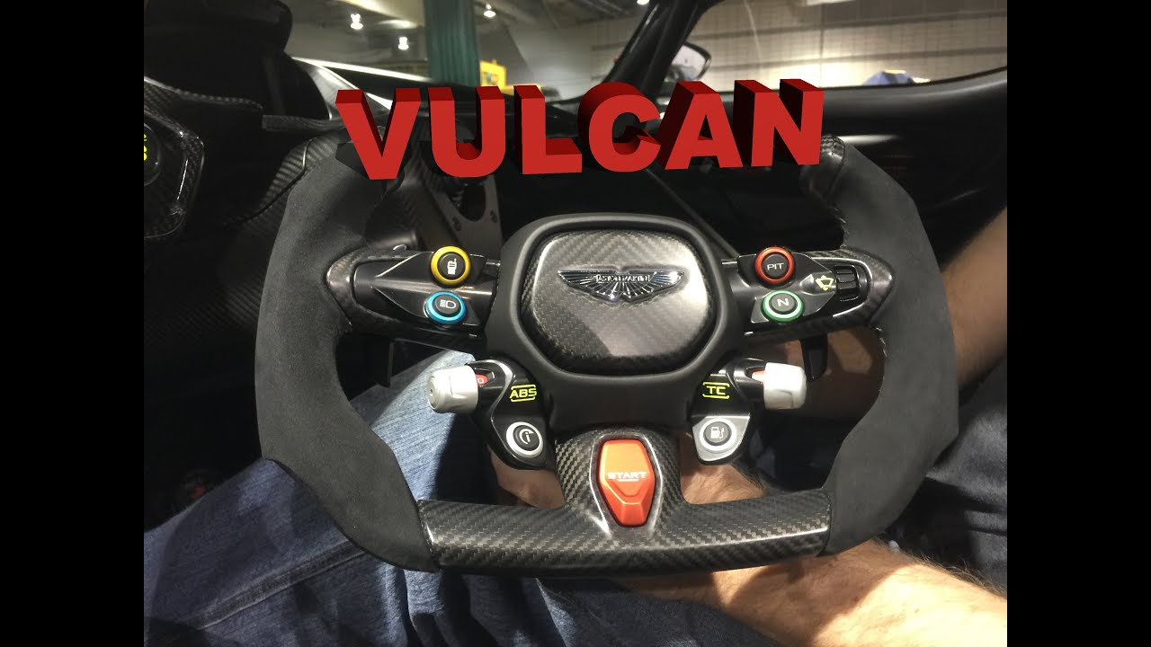 Aston Martin Vulcan Steering Wheel Review: How to tame an 800 hp V12