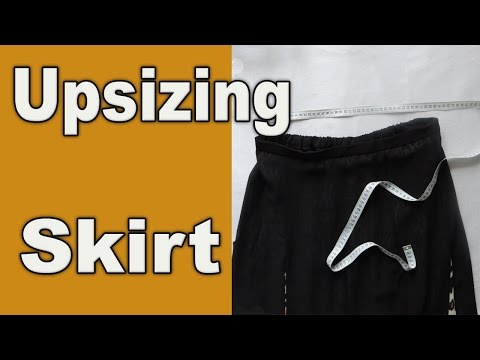 How to Upsize a tight Skirt in waist. Adjusting.