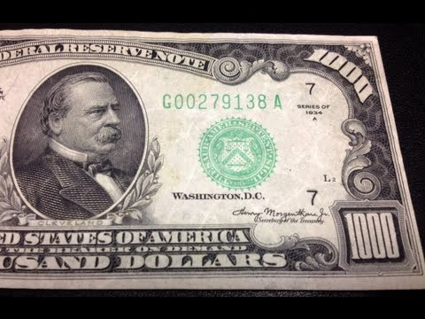 Big Money Acquisition!  Here's What This Amazing $1000 Bill Looks Like - BRSH