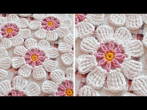 Crochet Flower Easy Pattern Youtube