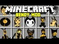 Minecraft BENDY AND THE INK MACHINE MOD BENDY BORIS ALICE ANGEL MORE Modded Mini Game mp3