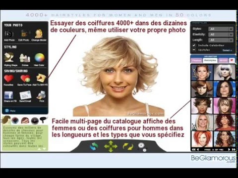 application simulation coiffure