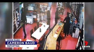 Seven News EXCLUSIVE. African Gang Fleece Bottle Shop.(Deer Park)