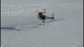 Raptor 90 RC Helicopter touching the first 2007-2008 snow