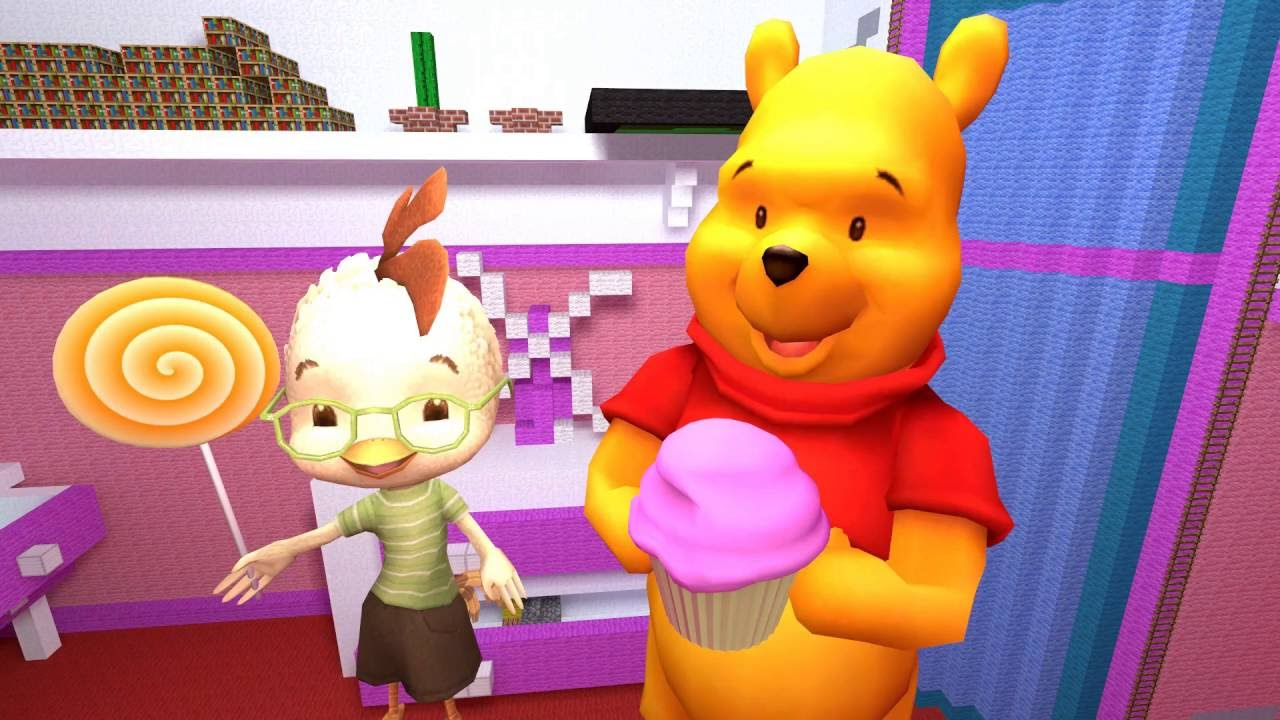Chicken Little And Winnie The Pooh Holding Candies - YouTube 4fa022a1781d