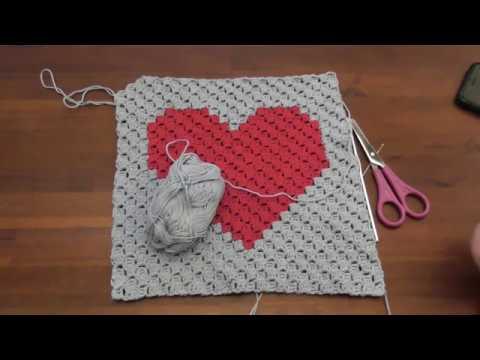 C2C häkeln - corner to corner crochet - Motivdecke häkeln - part 5 ...