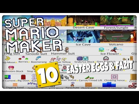 Let's Play SUPER MARIO MAKER Part 10: Easter Eggs, Fly Swatter Minigame, Credits & Fazit [ENDE]