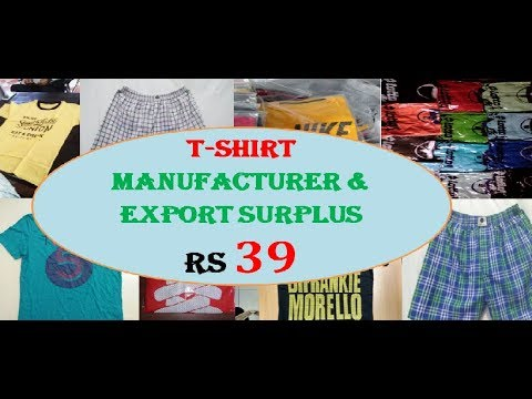 T shirt manufacturer and export surplus in Kolkata