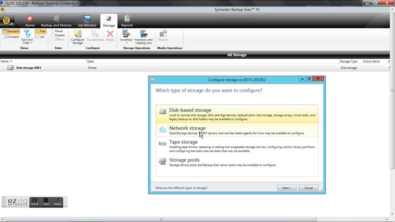 backup exec cloud How to configure Amazon S3 cloud storage to use it in Backup Exec 15 ...
