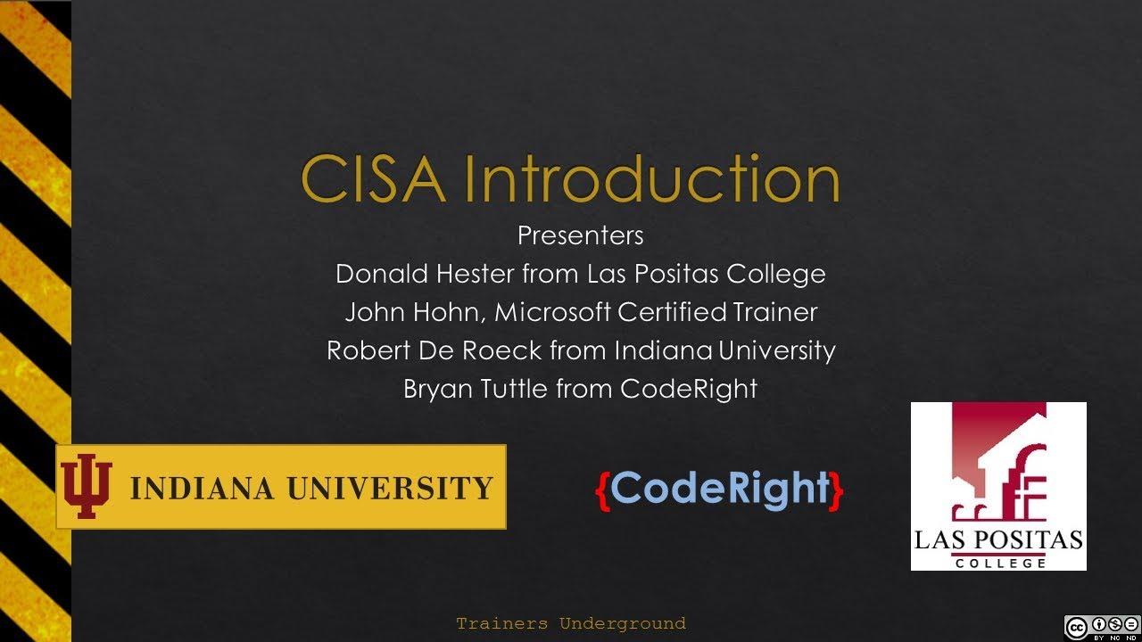 Download CISA Intro Part 1