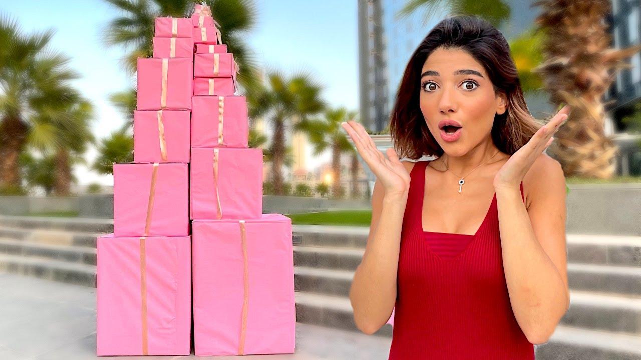 فلوج هدايا نارين بمناسبة 12 مليون مشترك