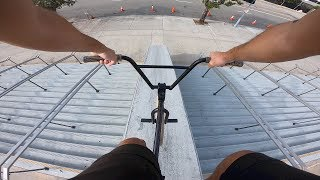 Doing a MASSIVE drop in at STAPLES CENTER LA (BMX)
