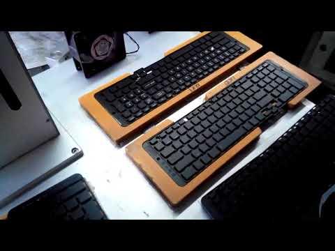 آلة وسم الليزر  Laser Marking On Keyboard لوحة المفاتيح ليزر النقش ,