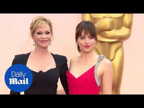 Dakota Johnson Shares Oscar Spotlight With Mother Mel Griffith - Daily Mail