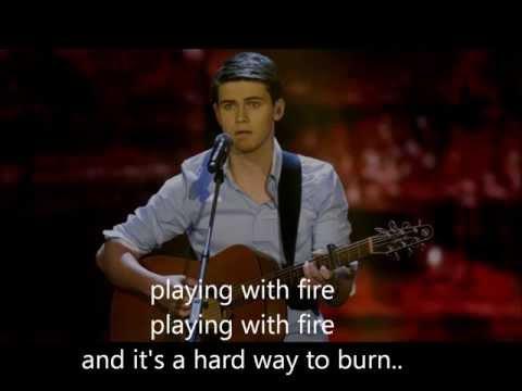 Haris Alagic - Playing with fire + Lyrics (Winner X-Factor the Netherlands 2013)