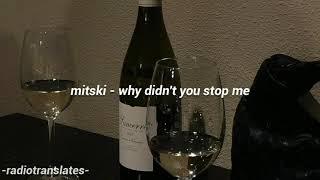 Mitski // Why Didn't You Stop Me Lyrics (Lyric Video)
