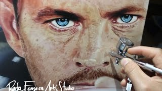 Painting Paul Walker -Fast and Furios / Rafa Fonseca
