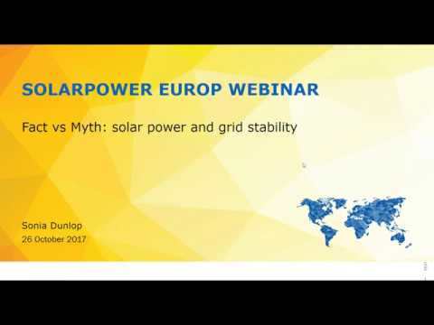 SolarPower Webinar:  Fact vs Myth: Solar power and grid stability