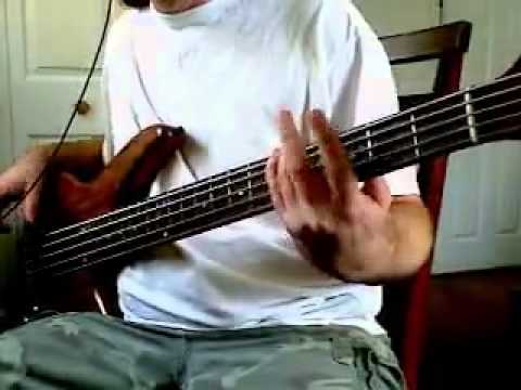 """a perfect circle """"judith"""" bass cover-5 string-standard tuning"""