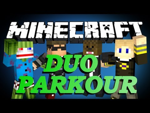 Minecraft DUO PARKOUR Minigame w/ SkyDoesMinecraft, Bashur, and GoldSolace
