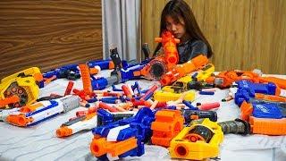 Hihahe Nerf War: SWAT & Hero Man Nerf Guns Enemy Gentleman Rescue Girlfriend Nerf War