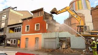 Demolición edificaciones en La Felguera - Febrero 2011