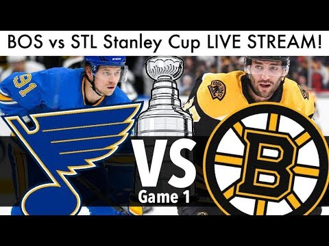 Bruins Vs Blues Stanley Cup Final Game 1 LIVE STREAM! (2019 NHL/Hockey Playoffs BOS/STL Reaction)