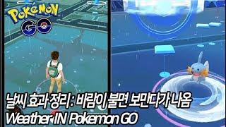 [포켓몬GO]날씨효과 완벽정리! 밖에 바람이 불면 보만다가 나온다. ∥ Weather IN Game[포켓몬고][Pokémon Go]