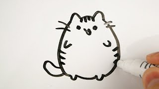 draw whiteboard easy drawing animals cat simple