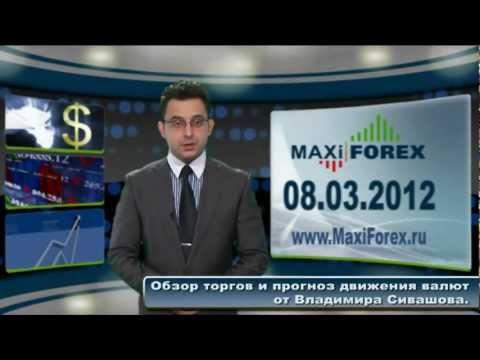 08.03.12 - Прогноз курсов валют. Евро, Доллар, Фунт. MaxiForex (RUS)