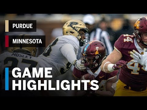 Highlights: Purdue Boilermakers vs. Minnesota Golden Gophers | Big Ten Football