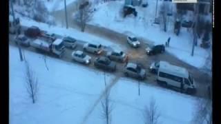 Утром Смоленск стоял в пробках