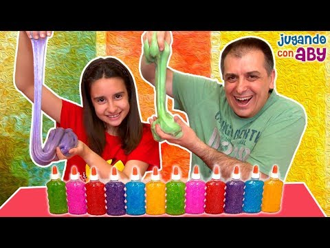 3 COLORS of GLUE SLIME CHALLENGE. Slime con tres colores bri