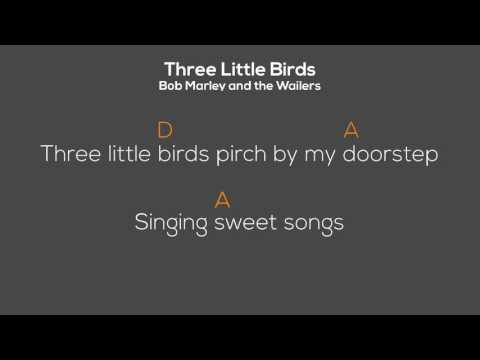 Three Little Birds Chord Lirik