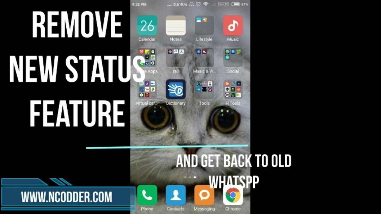 Remove New Whatsapp Status Feature And Get Back To Old Whatsapp