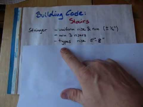 Stair building vs. Building Code
