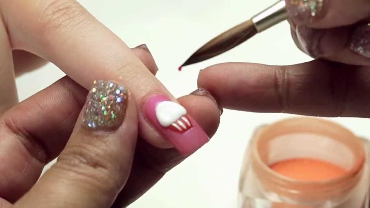 3 D Cupcake Nail Art Design Youtube